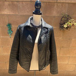 Forever 21 Black Vegan Leather Moto Jacket